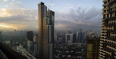 Makati Panorama (Joshua D. Williamson) Tags: panorama sunrise nikon cityscape philippines manila makati 2016 d600