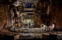 All the World's a Stage (Rodney Harvey) Tags: show city urban abandoned dark theater audience five decay stage indiana palace jackson gary exploration filthy urbex cavernous