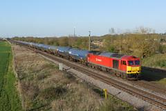 60017 Catholme (Gridboy56) Tags: uk railroad england train diesel trains db locomotive tug tugs railways kingsbury locomotives humber class60 railfreight 60017 dbschenker catholme 6m00