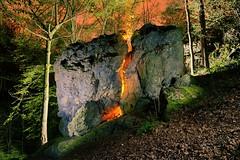 The Leprechaun's pot (palateth) Tags: portrait lightpainting rock night woods fairy urbanexploration ig urbex lightart