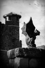 Guardian at the Gate (Lance Kuehne Photography) Tags: winter castle winery gargoyle napa