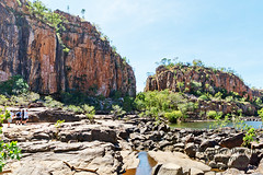 Rocky barrier in Nitmiluk National Park (stormgirl1960) Tags: river landscape nationalpark ancient rocky katherine australia cliffs rockface outback gorge rugged northernterritory nitmiluk