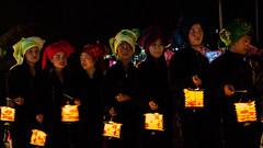 [Myanmar,Kalaw] Tazaungdine (Paul Bergot) Tags: girls night towel bynight myanmar lantern shan kalaw youngladies shantradition tazaungdine shantraditionnaloutfit