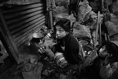living after the earthquake (Ivo De Decker back from holiday) Tags: nepal blackandwhite bw poor streetphotography reportage nepali nepaligirl bakhtapur ivodedecker helpnepal nepaliearthquake