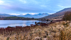 Snowdonia! in march (Anthony White) Tags: trip winter lake holiday nature water wales rural outside march mar unitedkingdom cymru nopeople visit gb snowdonia boggy northwales