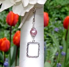 Wedding bouquet charm - rose pink (smilingbluedog) Tags: weddings bridal giftideas memoryphotos