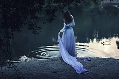 I missed you today (Sus Blanco) Tags: selfportrait water pond missing loneliness rainyday conceptual springtime