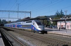 4703  Sissach  19.10.14 (w. + h. brutzer) Tags: france analog train nikon frankreich eisenbahn railway zug trains tgv sncf 4700 sissach eisenbahnen triebzug triebzge webru