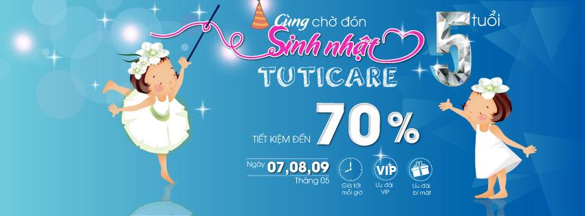 [Sự kiện Bon tấn tháng 5] Chào đón sinh nhật hệ thống cửa hàng Mẹ&bé TutiCare tròn 5 tuổi