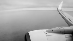 Ascent (code_martial) Tags: blackandwhite bw monochrome inflight boeing winglet 737 737800 dxoopticspro rx100 7378al capturenx2