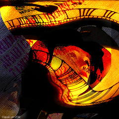 The Passage of Time (Lemon~art) Tags: orange texture clock mannequin yellow contrast bright time text manipulation numbers