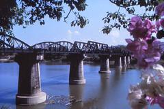 Thailand - Kanchanaburi - Bridge on the River Kwai (railasia) Tags: bridge thailand eighties infra kanchanaburi srt photographyby metergauge thamakham