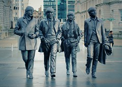 Four Lads From Liverpool (cathbooton) Tags: musician music statue liverpool waterfront 1960s johnlennon ringostarr thebeatles songwriter paulmccartney georgeharrison suitedandbooted fabfour merseyside parlophone overcoat shirtandtie