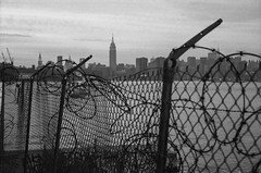 Williamsburg, Brooklyn (2003) (B Hiott) Tags: new leica york city nyc building abandoned film brooklyn 35mm river industrial waterfront state east midtown empire northside williamsburg ttl m6