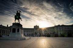 2015 Vienna (jeho75) Tags: vienna wien silhouette zeiss sunrise austria österreich sony sonnenaufgang hofburg ilce 7m2