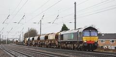66431 Copmamthorpe 14/01/2015 (Flash_3939) Tags: uk train diesel january rail railway locomotive freight eastcoastmainline 2016 copmanthorpe class66 drs ecml railfreight directrailservices 66431