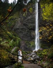 (Erick Claytor Photography) Tags: bridge november wedding west fall love rain oregon river groom bride pacific north columbia gorge