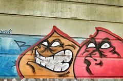 Graffiti (Andrs Bentancourt) Tags: street city urban uruguay graffiti arquitectura architechture cityscape photographer grafitti grafiti edificio ciudad cielo graffitti montevideo lunatic aire libre buidling callejn lunaticphotographercom