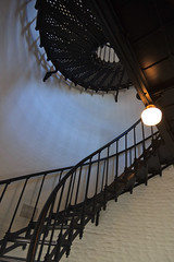 Spiral Stairs, Yaquina Head Lighthouse (Emily Miller fine art) Tags: lighthouse oregon stairs spiral newport yaquina hallwaygallery artst356