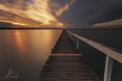 Long Jetty Sunset (Jingshu Zhu) Tags: sunset seascape clouds landscape jetty australia longjetty