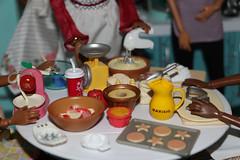 Bake Sale (citycirclez) Tags: scale cookies cake pie miniatures dolls sale ken barbie sidewalk 16 rement viola bake diorama zamora minis photostory playscale