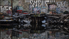 **GRIME CANAL NYC** (~*THAT KID RICH*~) Tags: street nyc newyorkcity winter snow ny pope cold ice brooklyn canon reflections graffiti canal ramp decay debris sigma ufo tires explore sem if ladder graff grime float dart trap smells bk tkr grimecity thatkidrich urbanwandering richzoeller richzoellerphotography wwwrichzoellerphotographycom