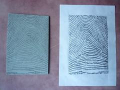 Fingerprint Lino Cut (Temporealism) Tags: art print carving printing linocut blockprint woodcut techniques linoprint