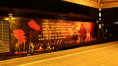 43172 Harry Patch with 43160 trailing out of sight 1L92 1828 Swansea - Paddington at Cardiff 06.01.2016 .. Thank you Harry.  (2) (The Cwmbran Creature.) Tags: world city uk wales one 1 war day britain united great rail kingdom battle 11 class we hero poppy conflict rememberance british veteran month 43 forget hst lest
