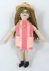 Summer Girl Doll (joellesdolls) Tags: summer doll handmadedoll girldoll handmadetoy summergirl joellesdolls dollwithsunglasses