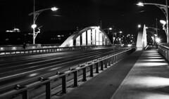 Bridge (I Love Canon <3) Tags: street city travel bridge blackandwhite white black architecture night grey lights town outdoor most citylights streetphoto pozna posen warta ef24105f4lisusm canoneos50d wroch
