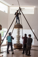 WhirlingOut (Laawaris) Tags: show red sculpture man solo installation sound whirling rajiv lochan ngma