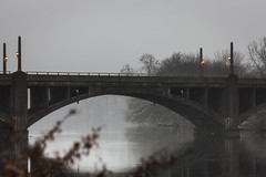 17/365 (Vivid Emotion Photos) Tags: new bridge snow water birds canon river garden newjersey state snowy release tripod snowstorm broadway nj ducks cable jersey gardenstate passiac induro