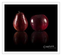Red Anjou Pear Red Prince Apple _DSC1586 16-Jan-21-Edit (Captura Photography) Tags: red cactus black reflection apple nikon pear vanguard v6 captura nikkor105micro project52 cb60 52project photographyimaging rf60 nikonfxshowcase dogwood52 dogwoodweek3