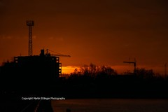 sunrise in Berlin 05022016 (1)5 (MartinE157) Tags: morning berlin sunrise buildings kreuzberg germany redsky friedrichshain