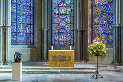 20160204_F0001: Holy shrine (wfxue) Tags: flowers light color colour building art window glass shrine colorful shadows cathedral bright interior religion stainedglass canterbury stained altar colourful stature canterburycathedral