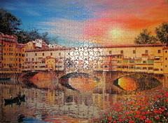 Firenze (pefkosmad) Tags: italy river florence hobby medieval puzzle firenze leisure jigsaw arno italie pontevecchio pastime