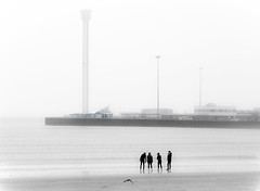 37/365 On The Beach - 366 Project 2 - 2016 (dorsetpeach) Tags: winter sea england storm beach wind dorset highkey 365 weymouth 2016 366 aphotoadayforayear 366project second365project sealifetower jurassictower