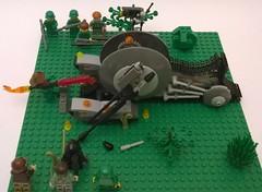 lego star wars: attack on earth! (lego3130starwars) Tags: star tank lego earth explosion attack wars custom moc separatist