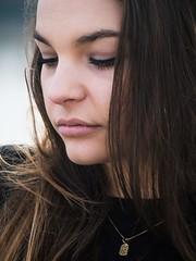 P1270202 (Solne Tarrieu) Tags: street sky black france art girl beauty photography blueeyes femme longhair bordeaux olympus jeans instant moment toit amateur ville regard younggirl hauteur pulpeuse olympusem10