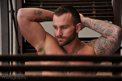 Nick Wagner (shoot 4) 088 (Violentz) Tags: shirtless portrait hairy man male guy model body muscle muscular bodybuilding fitness physique tattooed patricklentzphotography