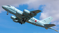The Kawasaki P-1 is a Japanese maritime patrol aircraft in service with the Japan Maritime Self-Defense Force Roya,l International Air Tattoo RIAT 2015, RAF Fairford