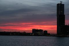 Rotterdam, sunset (bjornwerkman) Tags: zonsondergang rotterdam lucht rotterdamzuid rijnhaven
