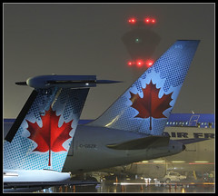 Air Canada tails (Tom Podolec) Tags:  way this all image may any used rights be without reserved permission prior 2015news46mississaugaontariocanadatorontopearsoninternationalairporttorontopearson