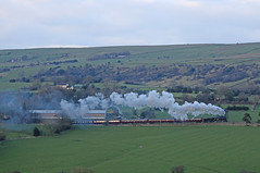USA S160 barks up the Cauldon Lowe branch (Andrew Edkins) Tags: usa geotagged gradient panning staffordshire steamtrain moorland preservedrailway churnetvalleyrailway 6046 uksteam s160 transportationcorps cauldonlowe apesford