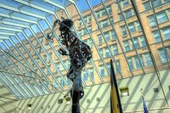 Abstract Metal Sculpture 03 (George - with over 2 mil views - THANKS) Tags: winter urban sculpture usa newyork abstract art statue architecture us unitedstatesofamerica january rochester indoors metalwork upstatenewyork imagination newyorkstate publicart professor atrium interiordesign hdr urbanscenes westernnewyork monroecounty interiorview photomatixpro sculpturearts monroecommunitycollege photogeorge sibleybuilding nikond750 acdseeultimate8 brucerbrown