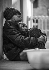 Just Another Day... (http://rearnakedjoke.net) Tags: portrait blackandwhite woman monochrome citylife streetphotography korea elderly seoul
