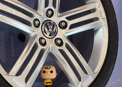 Big Head Chuck February 7 2016 Auto Show (Soapbox Girl (Carol Anne)) Tags: toy toys actionfigure peanuts tire actionfigures charliebrown volkwagen funko philadelphiaautoshow oneobject phillyautoshow theyearofcharliebrown oneobjectchallenge bigheadchuck oneobjectphotography