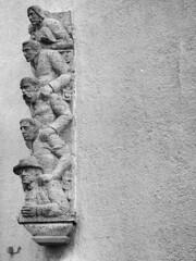 1938 (guenther_haas) Tags: wall blackwhite 60mm schwarzweiss f28 omd sparkasse neuulm em5 mzuiko