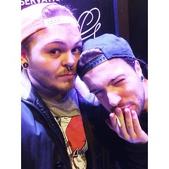 Fresh boys at Bowery #fuckyeah #selfie... (Progressive Grind) Tags: boys beard alt drinking piercing gauges septum selfie nightsout fuckyeah uploaded:by=flickstagram instagram:photo=1198874255410516705417991715