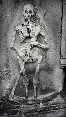 Grim (DurhamDundee) Tags: grave skeleton churchyard grimreaper scythe barnardcastle